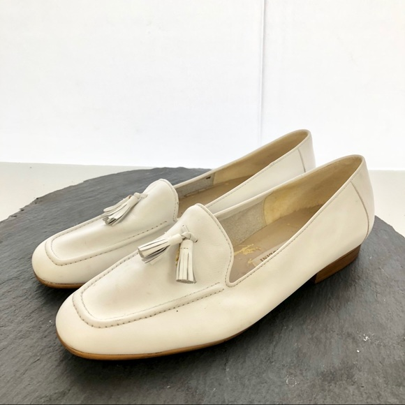 794a38a8640 Enzo Angiolini Shoes - Enzo Angiolini white leather Loafer flat size 8.5